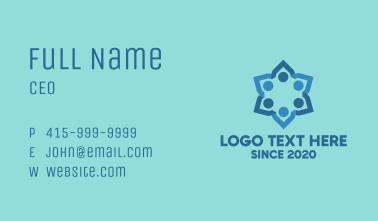 Blue Team Flower Business Card