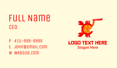 Seafood Crab Noodles Business Card