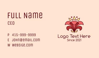 Ornamental Hibiscus Flower Business Card