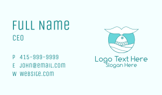 Fish Seafood Restaurant  Business Card