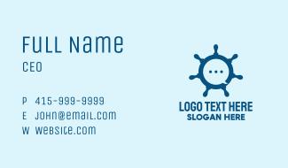 Marine Steering Wheel Business Card