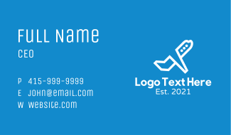 Airline Plane Takeoff Business Card