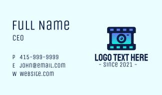 Film Strip Lens Business Card