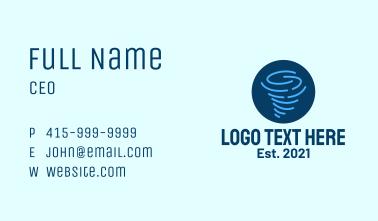 Tornado Weather Badge Business Card