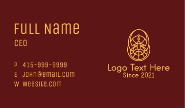 Viking Warrior Outline Business Card