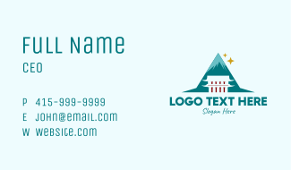 Asian Mountain Temple  Business Card