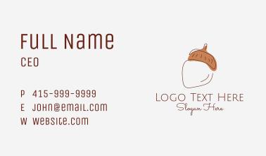 Acorn Nut Line Art Business Card