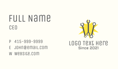 Wrench Toolbox Spark Business Card