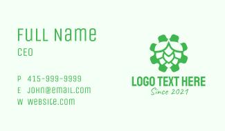 Green Gear Hop  Business Card