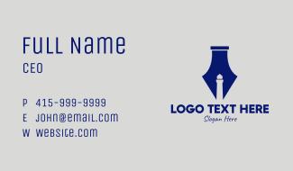 Lighthouse Fountain Pen  Business Card