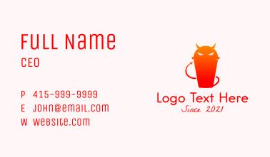 Devil Juice Drink Business Card