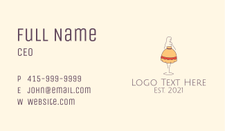 Lamp Lady Fixture Business Card