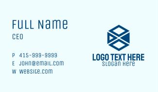 Business Diamond Hexagon Business Card