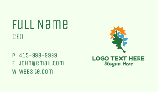 Leaf River & Sun Business Card