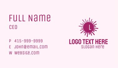 Purple Coronavirus Lettermark Business Card