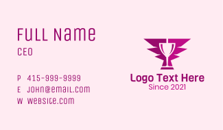 Wine Glass Wing Business Card