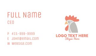 Chicken Rooster Head Business Card