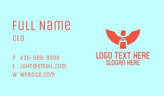 Red Eagle Paper Bag Business Card