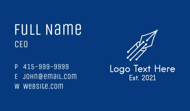 Digital Pen Rocket Business Card