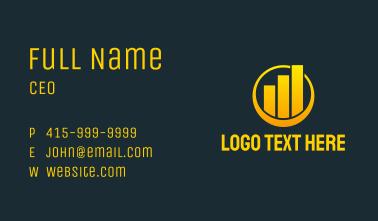 Yellow Statistics Chart  Business Card