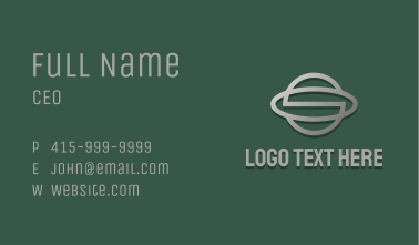 Metallic Planet Letter S Business Card