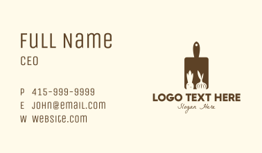 Brown Vegetable Kitchen Board Business Card