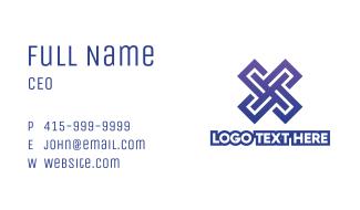 Blue Tech X Business Card