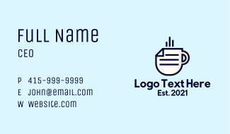 Hot Paper Cup Business Card