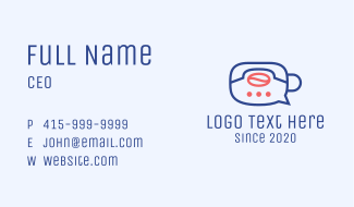 Coffee Delivery Chat Business Card
