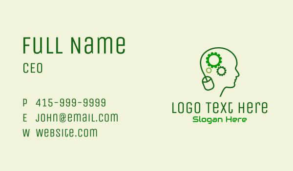 computer science - Computer Technician Mind  Business card horizontal design