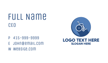 Emergency Wheelchair Business Card