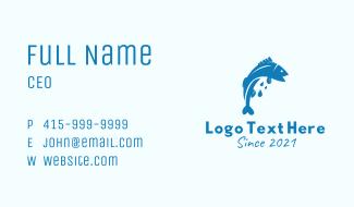 Blue Bass Fish  Business Card