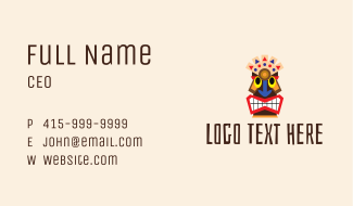 Native Aztec Character  Business Card