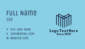 Letter M Company Business Card