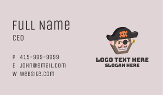 Angry 3D Pirate  Business Card