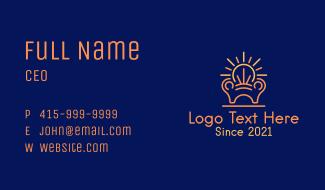Lightbulb Armchair Business Card