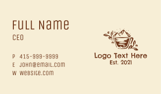 Rustic Mountain Coffeehouse  Business Card