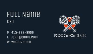 Lacrosse Stick Fire Business Card