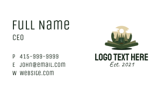 Outdoor Camping Book  Business Card
