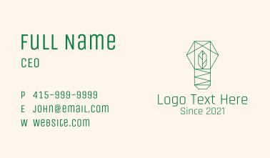 Geometric Leaf Garden Business Card