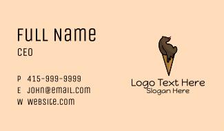 Ice Cream Bear Business Card