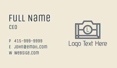 Minimalist Camera Letter  Business Card