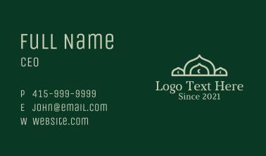 Muslim Mosque Moon Business Card