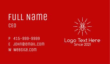 White Ant Line Art  Business Card