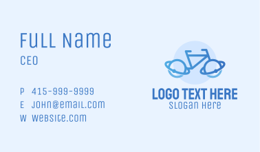 Planet Orbit Bicycle Business Card