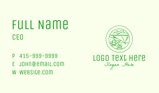 Outdoor Camping Backpack Business Card