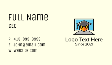 Online Course Graduate Business Card