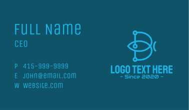Blue Digital Network Business Card