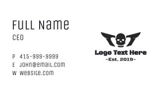 Horror Winged Skull Business Card