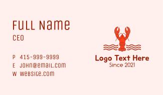Lobster Seafood Restaurant  Business Card